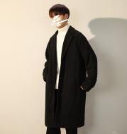 Men's Woolen Coat In Autumn And Winter Mid Length Over The Knee Trench Coat