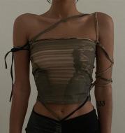 Retro Dark Green Short Oblique Shoulder Sling Women