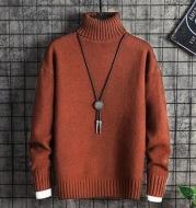 Turtleneck Sweater Men Korean Style Trend Thick Winter