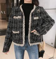 Little Fragrant Tweed Short Jacket Women's Trendy Top