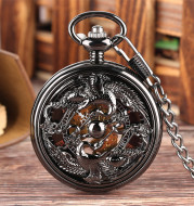Manual Mechanical Pocket Watch With Hollow Carved Pattern