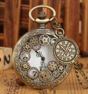 Creative Pocket Watch Plus Compass Pendant