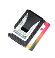 Multi-purpose Bank Card Holder Metal Wallet Carbon Fiber RFID Card Holder