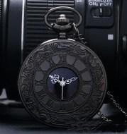 Double Display Retro Necklace Quartz Pocket Watch
