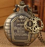 Retro Hollow Christmas Fright Night Theme Pocket Watch