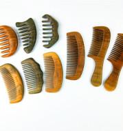 Sandalwood Comb Wooden Hair Comb Green Sandalwood Meridian Wooden Comb