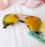 Children's Colorful Reflective Aviator Sunglasses