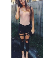 Women Ripped Jeans femme Plus Size Casual Denim Pants