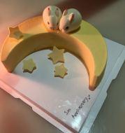 Moon Shape Silicone MMoon Shaped Fondant Cake Mousse Mould DIY Baking Mould