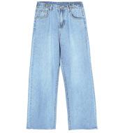 Loose High Waist Drape Wide-leg Pants Slim Jeans