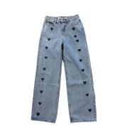High Waist Straight Leg Jeans Women Spring and Summer Love Pants