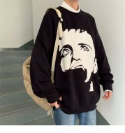 Privathinker  Men's Winter Warm Sweater Korean Streetwear Fashion Woman Pullovers Sweater Autumn Graphic Printed Casual Sweater
