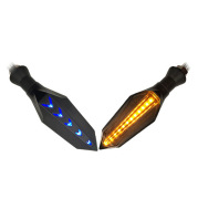 Motorcycle Two-Color LED Flowing Water Arrow Turn Signal