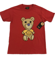 The red bear T-shirt is pure cotton and chunky for Justin Bieber