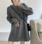 Hooded Mid-length Sweater Women Loose