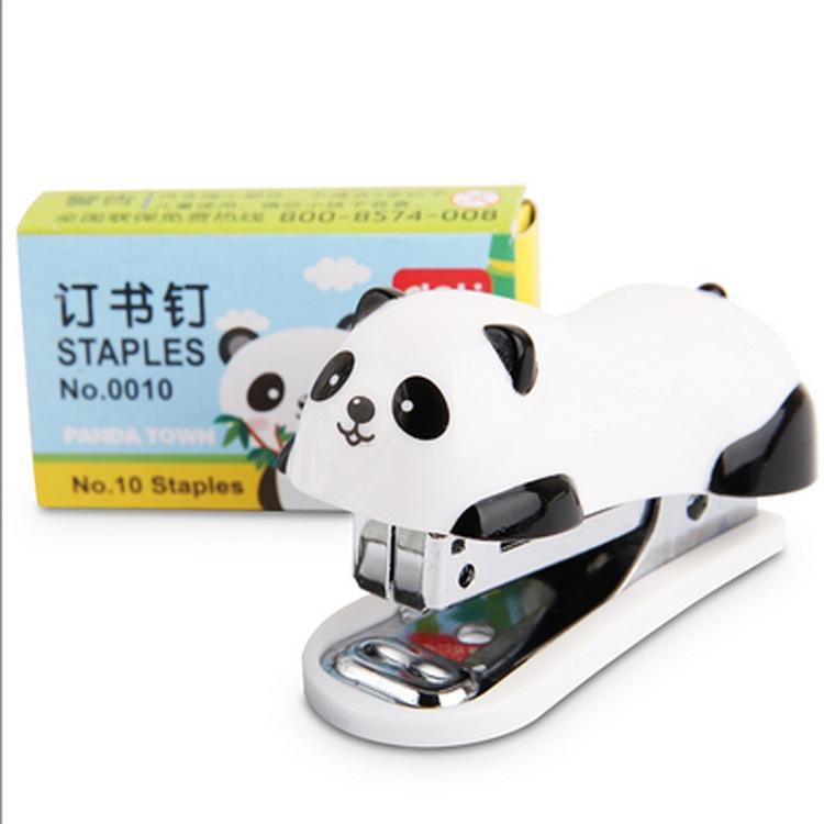 Child Safe Cartoon Panda No.10 Paper Stapler