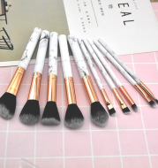 10 Sets Of Marbled Makeup Brushes For Beginners
