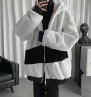 Lamb Velvet Jacket Men's Winter Plus Velvet Thick Padded Coat
