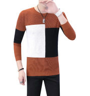 Plaid Slim-Fit Trendy Handsome Clothes Base Knitwear