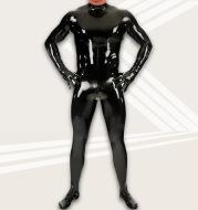 Latex Ammonia Body Shaper Mirror Shiny Leather One-Piece Bodysuit
