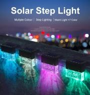 Waterproof New RGB LED Solar Light Step Fence Light