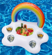 Water Inflatable Rainbow Toy Cup Holder