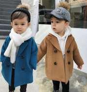 Small And Medium-Sized Children's Mid-Length Korean Coat Coat