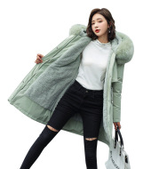 Lamb Wool Inner Village Down Cotton Jacket Women's Quilted Jacket