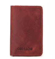 Cowhide Card Holder Card Holder RFID Leather Automatic Card Box