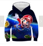 Mario Children Pullover Sweatshirts Boys Girl Kids supermario Sweatshirt Tops Baby Boys Spring Autumn Clothes cartoon Sweatshirt