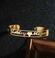Customized Name Bracelet Personalized Custom Bangles Stainless Steel Jewelry