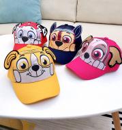 Babies Three-dimensional Hat Printed Dog Ears Boys and Girls Sun Visor Caps