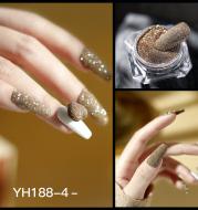 Nail crystal diamond powder