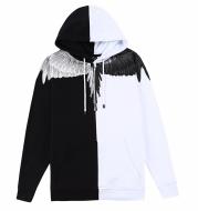 Mark Bronn Wings Print Hooded Sweatshirt for Men and Women