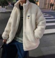 Winter Thickened Plus Velvet Lamb Wool Cotton Jacket