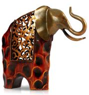 Explosive Works Of Art Wrought Iron Flower Picking Wrought Iron Elephant
