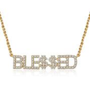 Full Diamond Name Letter Necklace
