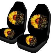 Car Sun Flower Printed Seat Cover Yin Yang Sunflower