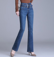 Korean Style Bootcut High-Waisted High Cotton Casual Jeans