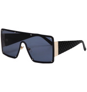 Large Square Frame One-Piece Sunglasses