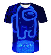 Among Us 3D Printed Round Neck Men's Cute T-Shirt