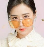 Square Frame Double Beam Marine Sunglasses