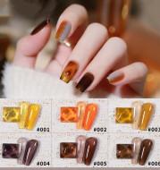 9 Colors Amber Set UV Gel Nail Polish Ice Penetration Soak Off Shining