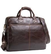 Casual Leather Business Briefcase Large Capacity Men's Shoulder Bag
