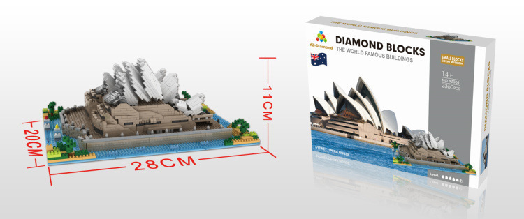World Famous Architecture Diamond Building Blocks Model Tower Educational Toys
