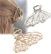 Korea Simple Large Metal Butterfly Hairpin