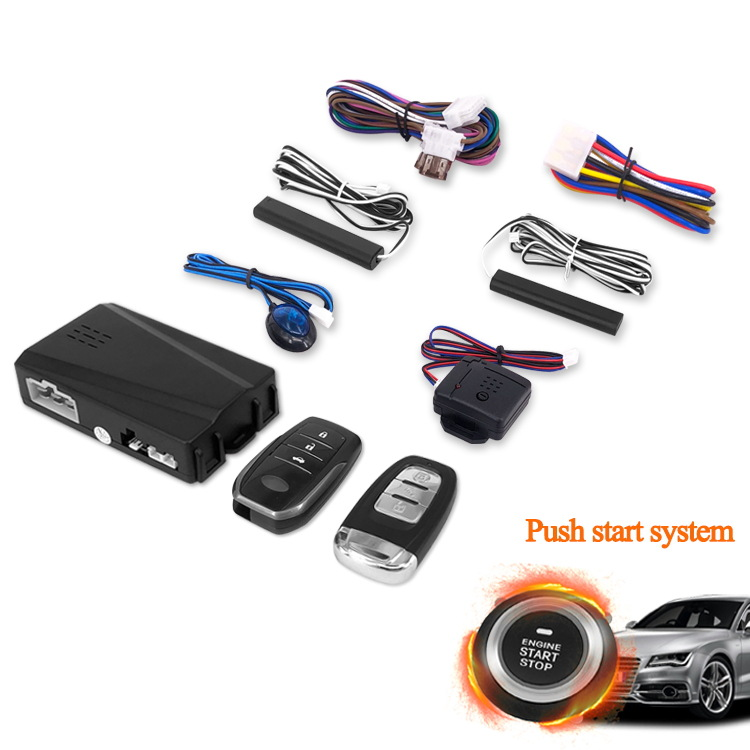 Intelligent General Motors Modified Ignition Button Engine Start Stop Keyless Entry System PKE Security Alarm Push Button RFID Sensor Remote for Car Auto SUV