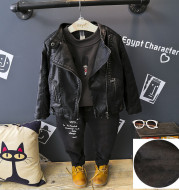 Boys And Girls Warm And Trendy Leather Jackets
