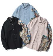 Shirt BF Style CoupleJacket Stitching Tooling Long-Sleeved Shirt