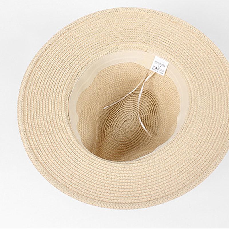 Chapeau de paille panama plat 2